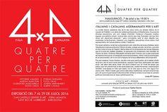 L'arte di Vittorio Amadio: Domani si inaugura 4x4 a Barcellona. Una grande mostra con (per l'Italia) Vittorio Amadio, Marisa Marconi, Clodoveo Masciarelli e Silvio Craia