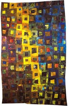 insane quilt. i love the cascading yellow blocks.