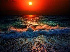 Evening at ocean