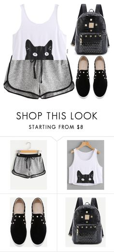 """""""Romwe #1 XVIII"""" by oliverab ❤ liked on Polyvore featuring Summer, romwe and sporty"""