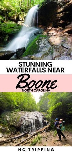 BOONE NORTH CAROLINA TRAVEL GUIDE | Boone North Carolina | Appalachian State | USA Travel | Waterfalls | Check out this guide to Boone North Carolina waterfalls. These hiking trails near Boone, Blowing Rock, and Banner Elk North Carolina are the perfect for the adventure seeker. #USA #NorthCarolina #travel #hiking