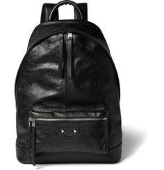 Creased-Leather Backpack | MR PORTER $1325