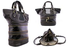 Miss MAK - Abrianna Expandable Tote Black Pebbles, Handbags, Fashion, Moda, Hand Bags, Fasion, Bags, Trendy Fashion, La Mode