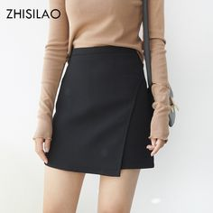 68abc8a34 US $20.04 29% OFF|ZHISILAO 2018 Woman Skirts Woman Pencil Skirt lolita  Bodycon Sexy Slim High Waist Jupe Petticoat Skinny Black Skirt Cotton  Robe-in Skirts ...