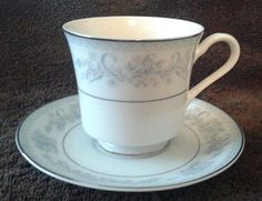 Mikasa Dresden Rose Footed Cups & Saucers #Mikasa