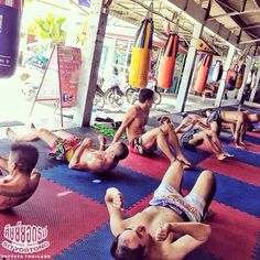 Muay Thai Sityodtong gym. Core work. nuannaree's photo on Instagram