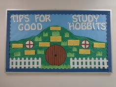 Resident Assistant Bulletin Board to promote Academic Success! Hobbit themed RA