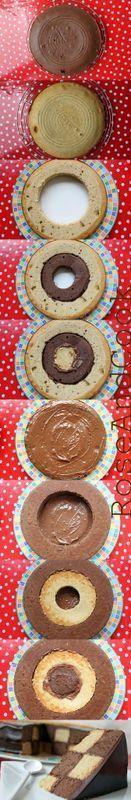 Gâteau damier au chocolat tout simple !