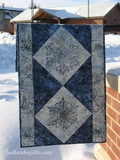 Let It Snow Batik Runner