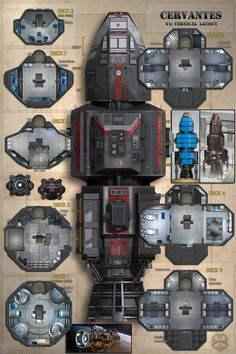 The Expanse Tv, Star Wars Spaceships, Sci Fi Spaceships, Spaceship Interior, Spaceship Design, Deck Building Plans, Deck Plans, Star Wars Rpg, Entertainment