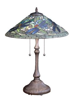"24""""H Tiffany Flying Dragonfly Table Lamp"