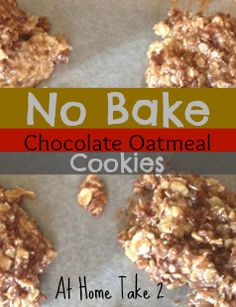 No Bake Cookies are delightful to make on a hot day, and these Chocolate Oatmeal No Bake Cookies from All She Cooks are the bomb. They are gooey and delicious.