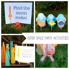 outer space party activities on onecharmingparty.com #outerspaceparty