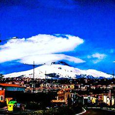 L'#etna e il suo cappello #catania #sicilia