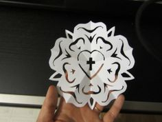 Luther Rose Snowflake for Reformation Day Sunday School Lesson