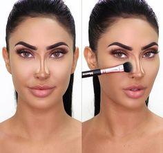 Nose Makeup, Contour Makeup, Contouring And Highlighting, Beauty Makeup, Hair Makeup, Contour Nose, Teen Makeup, Lip Contouring, Makeup Eyes