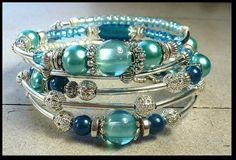 54# Bracelet mémoire de style gypsy. 5 rangées
