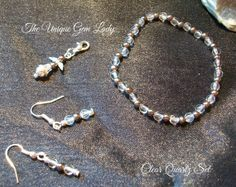 Hand Crafted Ooak Clear Quartz  Bronze Bead by TheUniqueGemLady, £6.50