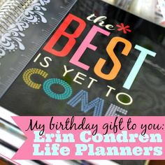 My birthday gift to you - Erin Condren Life Planner Square - win a life planner!