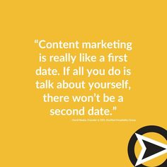 Treat your audience like it is your first date. . #marketing #contentmarketing #contentstrategy #datingadvice Inbound Marketing, Content Marketing, Internet Marketing, Pittsburgh, Dating Advice, Instagram, Dating Tips, Online Marketing