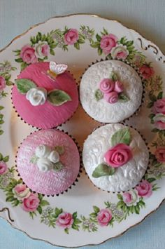 Cupcakes-use imprints from something to make the design