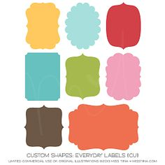 Everyday Labels Shapes ·CU·