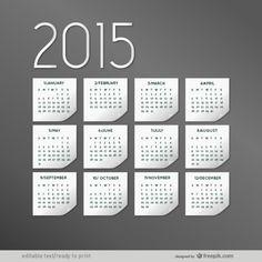 Elegant 2015 calendar Free Vector