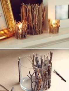 Make your own candle holder! Super cute!