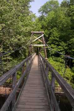 The bridge was built by the USDA Forest Service in cooperation with the Appalachian Trail Club in 1977.