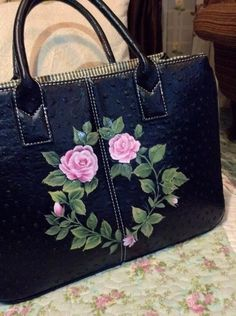 My officemate's handbag/ painted by Salina M. Ali/beautiful!