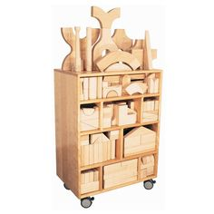 Strictly for Kids Premier Deluxe Maple Block Cupboard - SK1099