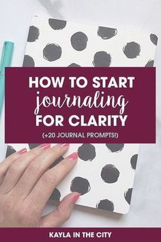 To Start Journaling for Clarity (+ 20 journal prompts!) - Kayla in the City how to start journaling for clarity journal prompts to get you started!)how to start journaling for clarity journal prompts to get you started! Journal Writing Prompts, Journal Prompts For Adults, Mental Health Journal, Bullet Journal Inspiration, Journal Ideas, Journal Entries, Keeping A Journal, Daily Journal, Thing 1