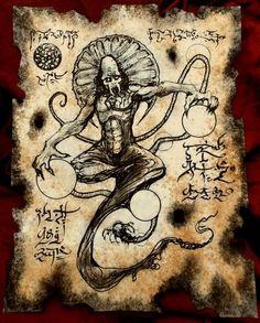 Sorcery of Tsan Chan by MrZarono on DeviantArt Necronomicon Lovecraft, Lovecraft Cthulhu, Call Of Cthulhu Rpg, Alchemy, Dark Books, Lovecraftian Horror, Beautiful Dark Art, Dragons, Arte Obscura