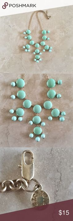 """JCREW MINT GREEN BUBBLE NECKLACE JCREW mint bubble statement necklace. 25"""" chain from clasp to clasp, when clasped can be adjusted to hand 8""""-12"""". Bubbles are about 1"""" diameter. J. Crew Jewelry Necklaces"""