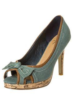 Anna Field - High Heel Peeptoe - jeans-grün