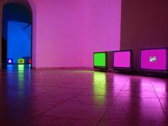Jan Stolín, 60-120 Frames Per Second, Galerie 99, Brno, 2007, instalace, digitální animace, video