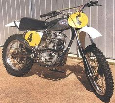 1974 CCM scrambler, using a 500cc 4stroke single BSA engine