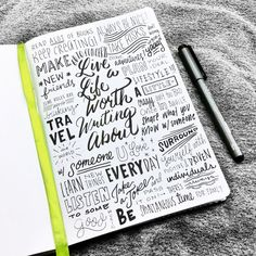 """""""Live a life worth writing about! Law Of Attraction Planner, Calligraphy Words, Passion Planner, Strong Marriage, Flower Doodles, Word Art, Typography, Messages, Writing"""