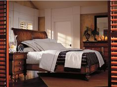 The Classic Portfolio - British Colonial Queen Bedroom Group by Stanley Furniture