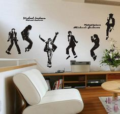 Opentip.com: Aspire DIY Wall Decals, Michael Jackson King Of Pop Thriller Vinyl Decal