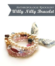 Willy Nilly Bracelet...this would be really cool as a necklace or an anklet