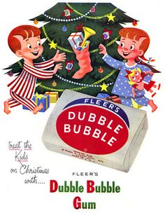 Dubble Bubble Vintage Christmas Ad    Merry Christmas from Johnny and Jomadado.com !!!  #Christmas #vintagechristmas