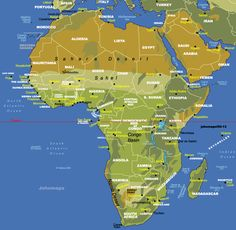 map of africa showing sahara desert | maps | Pinterest | Africa