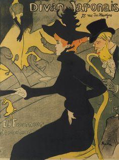 Henri de Toulouse-Lautrec / Divan Japonais / 1892-93 / a poster advertising a nightspot he frequented   The Metropolitan Museum of Art