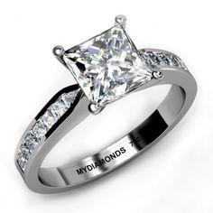 Aurora Princess Cut Diamond Engagement Ring