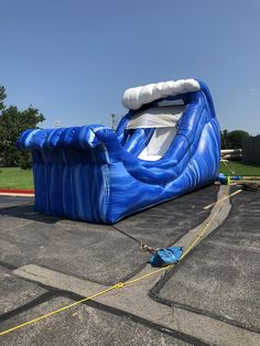 16' wave water slide, call us at (918) 299-2141 or visit www.bouncepro.net Little Girl Toys, Toys For Girls, Little Girls, Water Slide Rentals, Bounce House Parties, Water Slides, Things That Bounce, Waves, Girls Toys