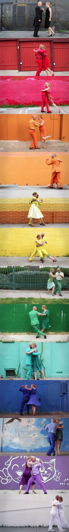 The dance, the shoes, the clothes, the colors. #loveit OK Go - Skyscrapers