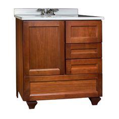 "30 Bathroom Vanity Menards different sink top!! pace valencia series 30"" x 18"" vanity with"
