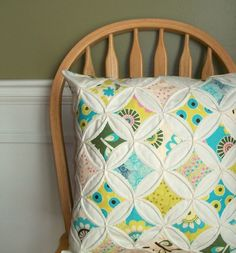 beautiful quilted pillow
