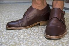 Double Monk Strap Elevator Shoes.